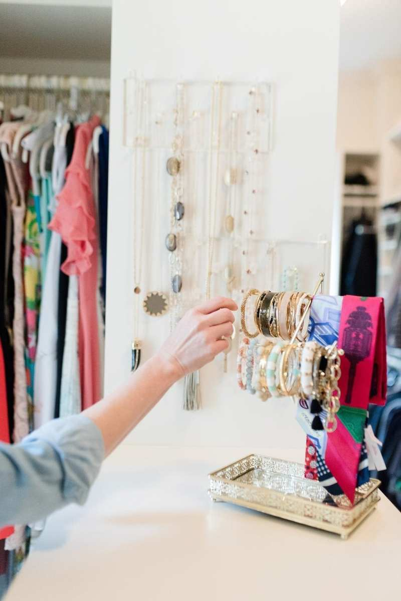 How to display and hang jewelry in a small space.