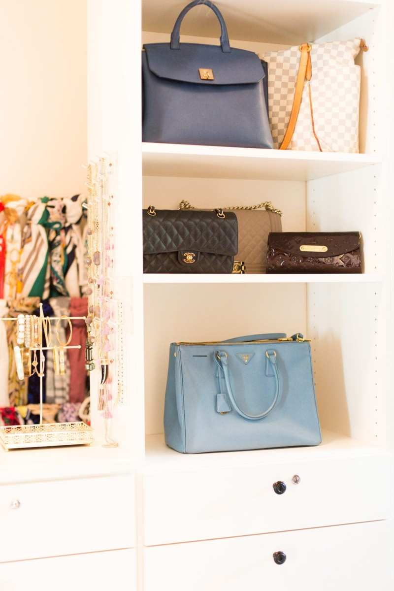 How to store purses for daily usage.