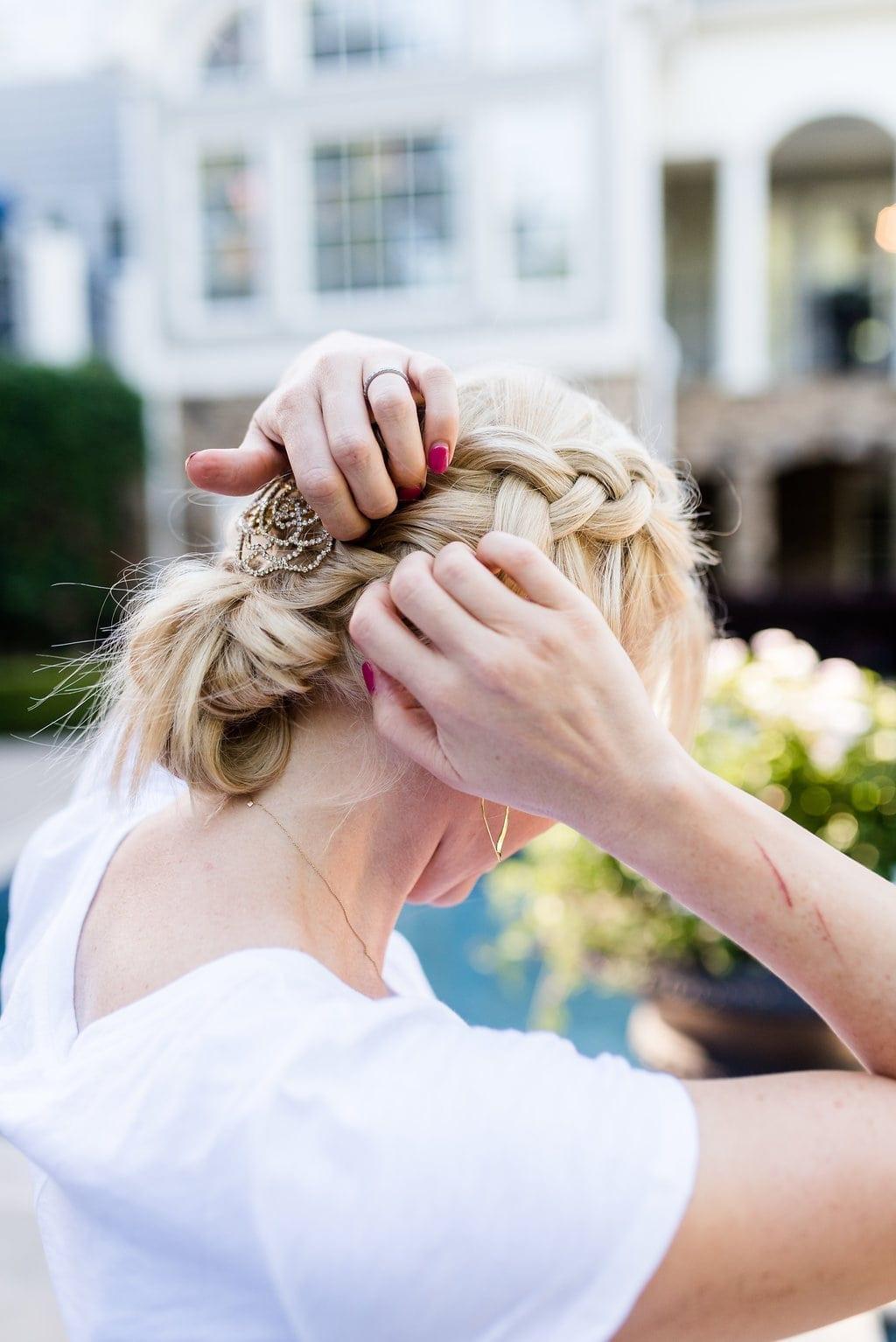 Dutch braid. How to do a dutch braid hairstyle.