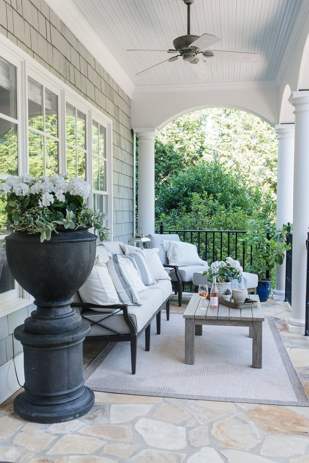 Woodard patio furniture. Decorating outside. How to clean outdoor cushions.