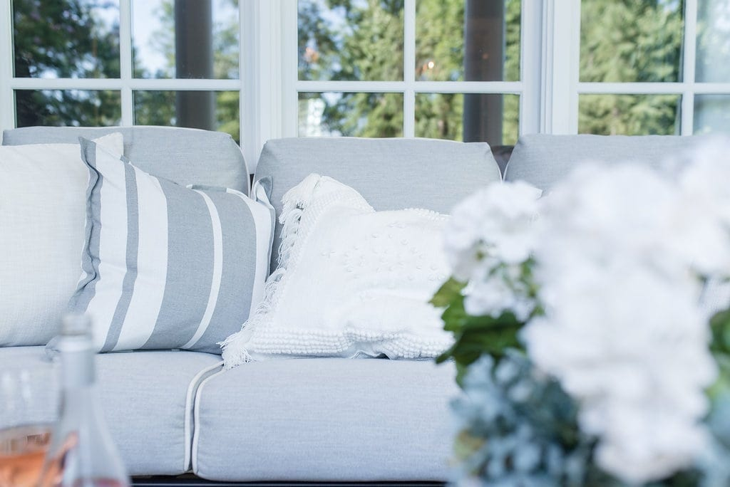 Serena and Lily outdoor pillows.