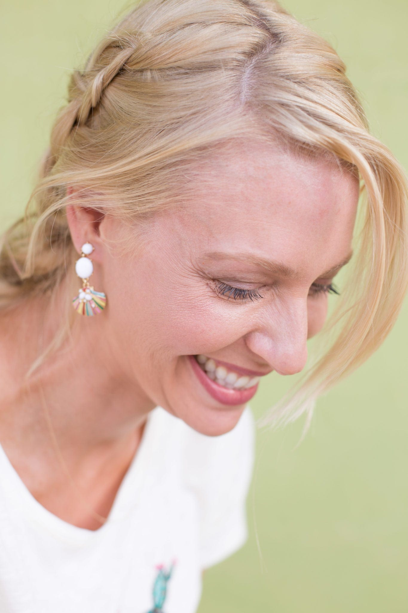 Talbots jewelry. Earrings in colorful summer hues.