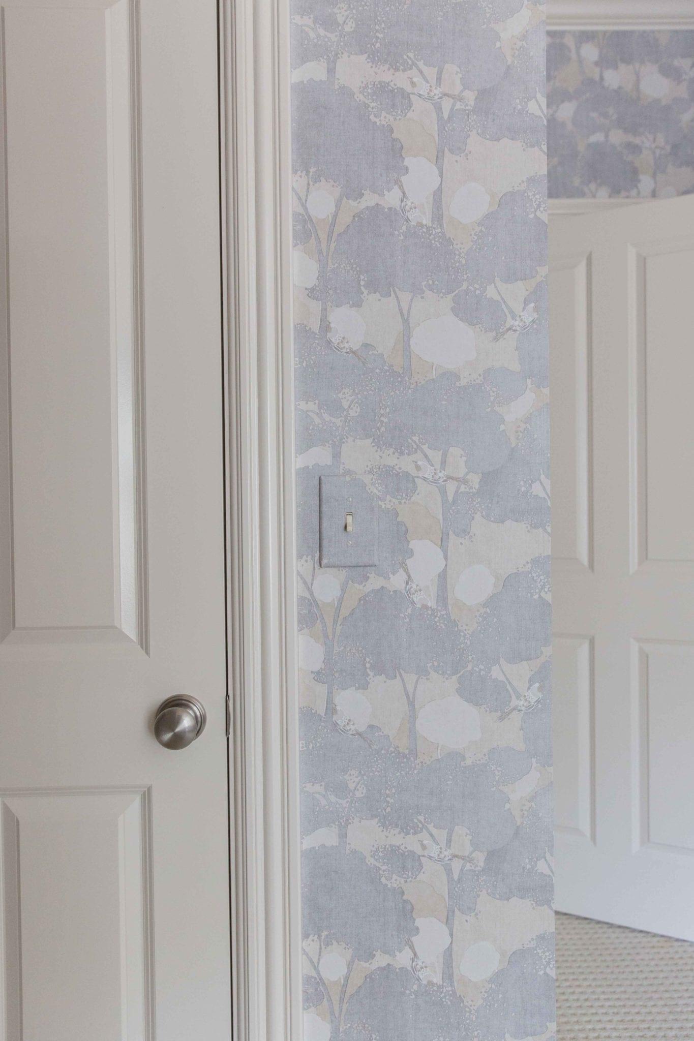Purple wallpaper designs by Calico. Bedroom makeover ideas.