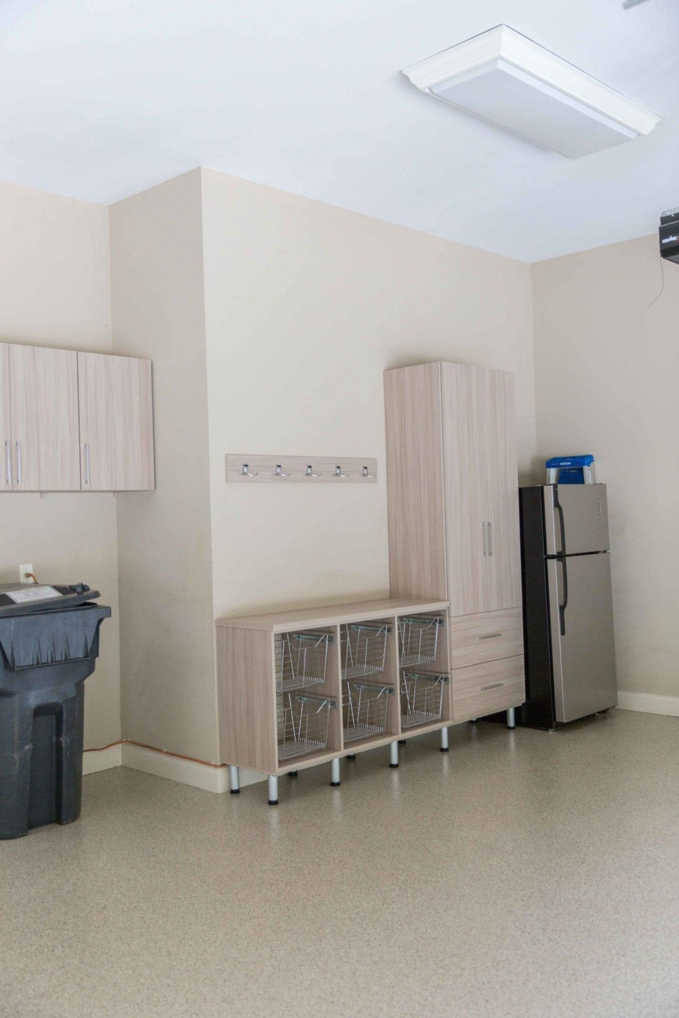 Garage Organization with garage floor epoxy.