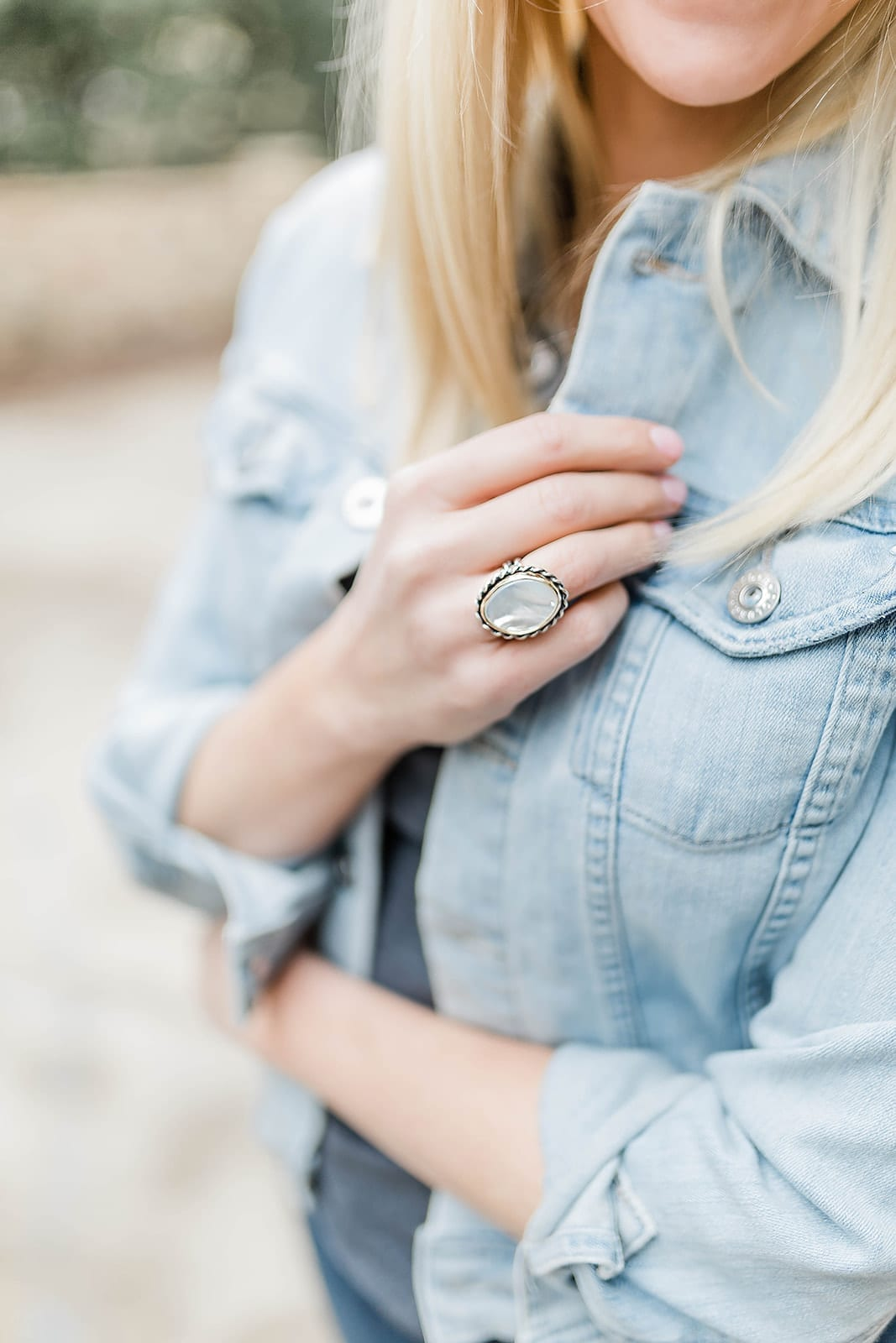 James Aery Alessandra Mother of Pearl Ring