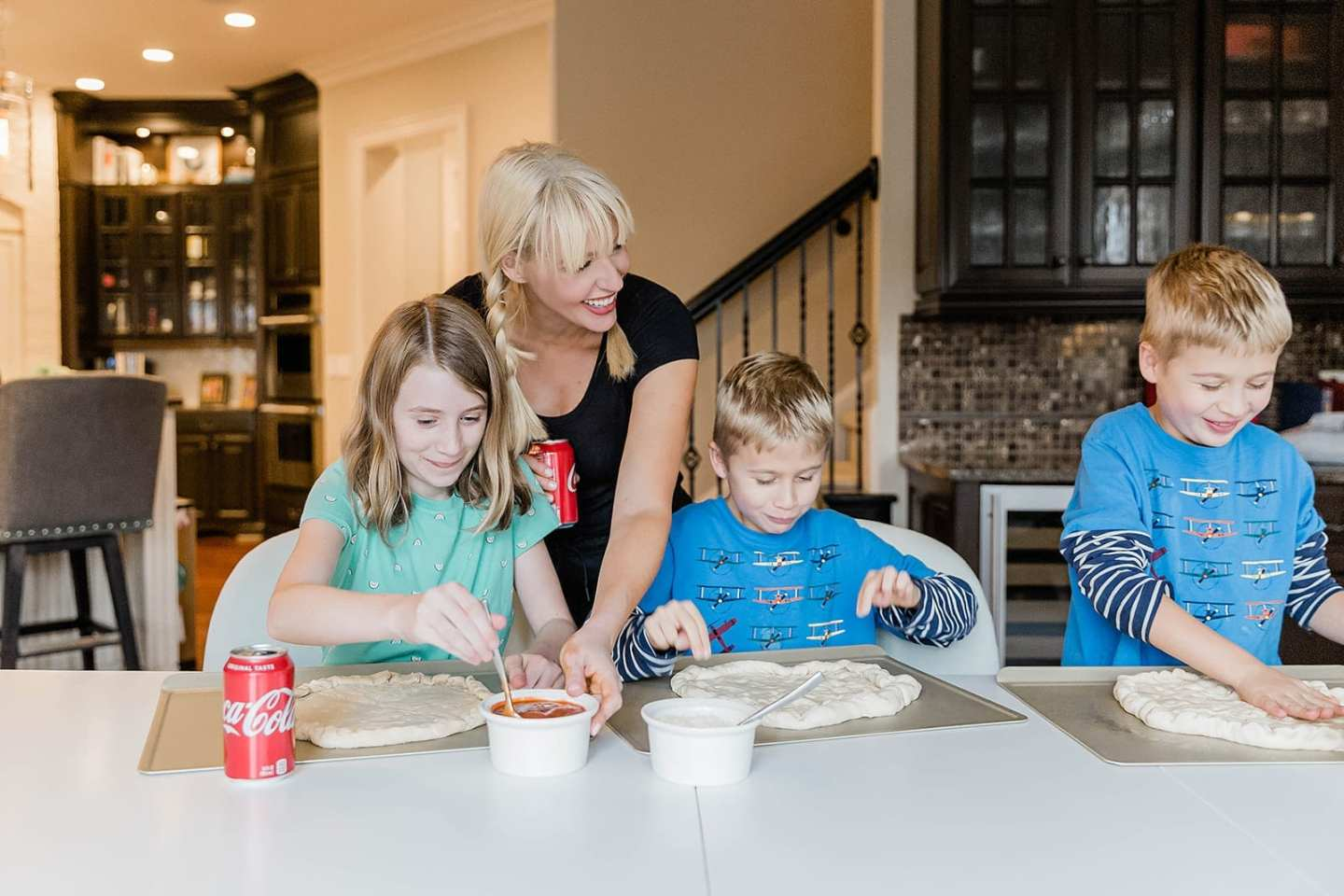 Easy DIY Pizza with Publix Pizza Dough. Have an easy family dinner with Publix pizza dough and Coke. My kids love making their own pizza and this dough is so yummy!