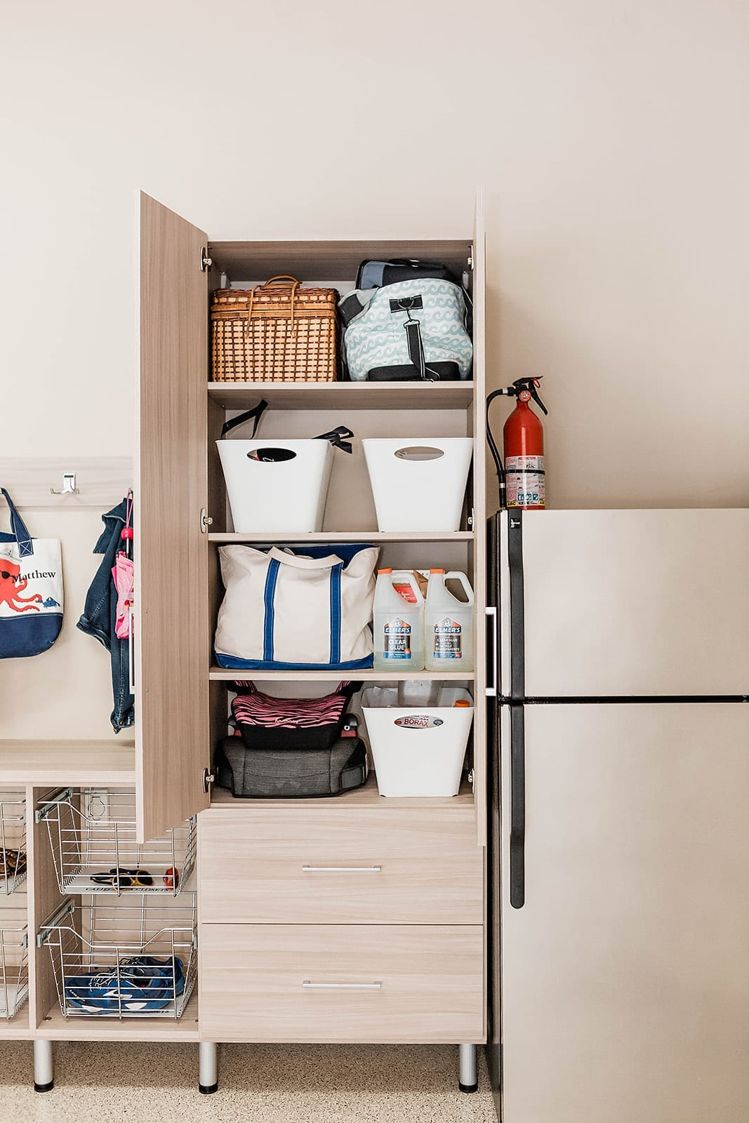 Storing Stuff in your Garage. What to store in your garage and where you should store it.