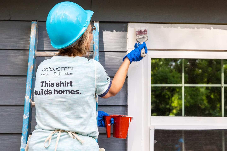 ATLANTA, GA, USA (04/24/2019)-Home is the Key Chico's FAS Inc. build day. ©Habitat for Humanity International/
