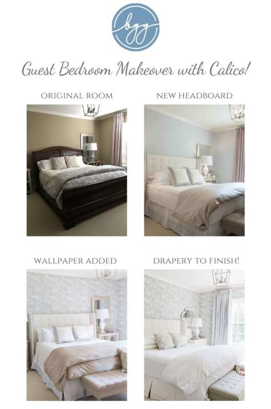 Guest bedroom before and after. Stages of remodeling a bedroom.
