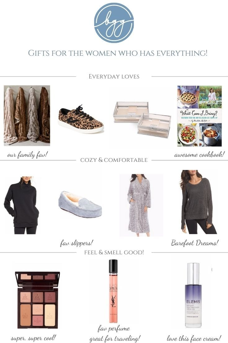 Gifts for Women who have everything. Skincare gifts for women, sweaters for women and gift ideas for home.