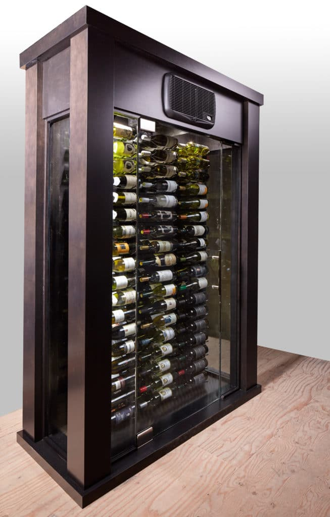 The Stellar  Portable Glass Wine Cellar  Blue Grouse