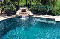 Rock Waterfall Pool Photos