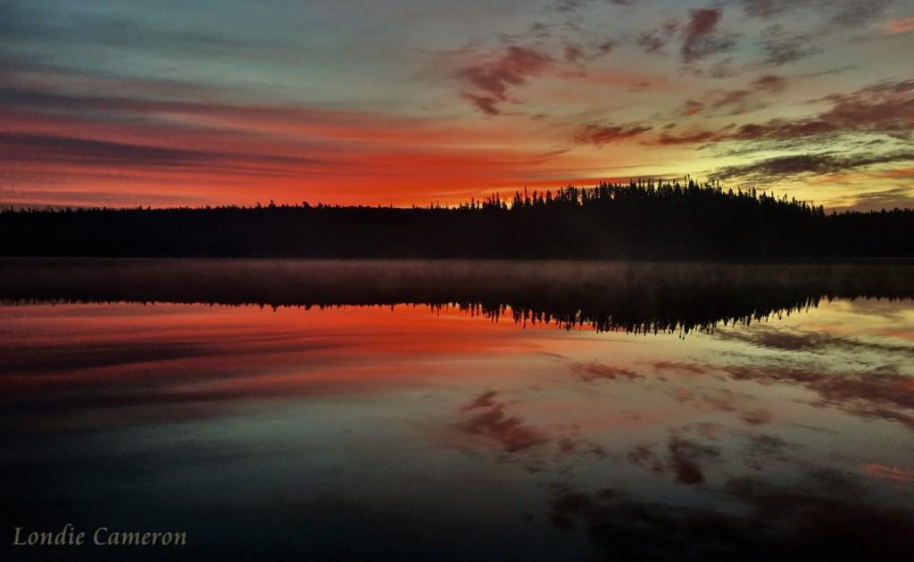Mattagami Lake Fall Sunrise by Londie Cameron