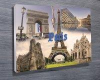 Paris City Wall Art Canvas