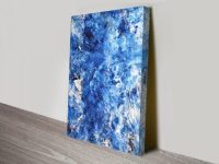 Sculptured in Ice Wall Art Abstract Canvas Print