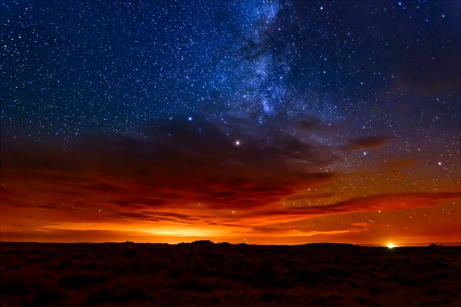 A moonless October night proved an excellent opportunity to view the Milky Way above New Mexico's remote Bisti Wilderness.