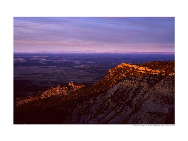 The San Juan mountain range from Geologic Overlook, Mesa Verde National Park, Colorado (2016)