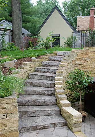 outdoor stairs hardscape projects