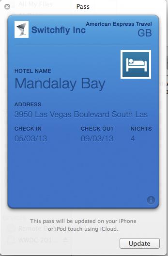 Amex Switchfly Hotel Passbook