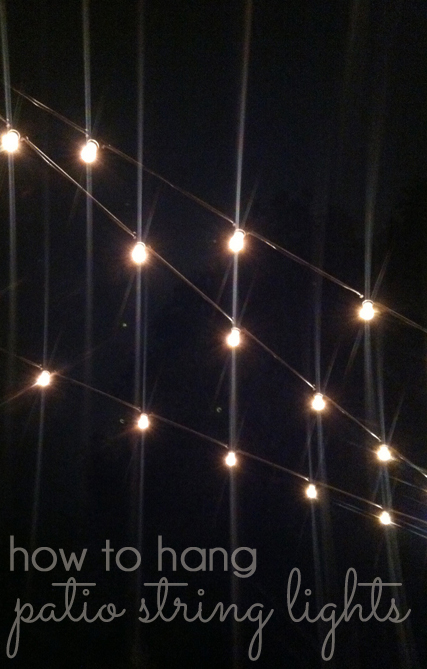 how to hang patio string lights blue