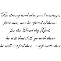 Download Be strong and of a good courage, fear not, nor be afraid ...