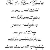 Download For the LORD God is a sun and shield the LORD will give ...