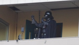 "Darth Vader sings ""Take Me Out to the Ballgame"""