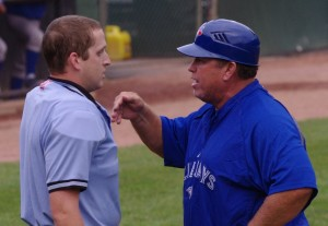 Bluefield Manager Dennis Holmberg just before he was ejected from a game.