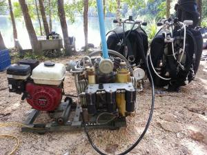 Portable compressor for Cave Diving