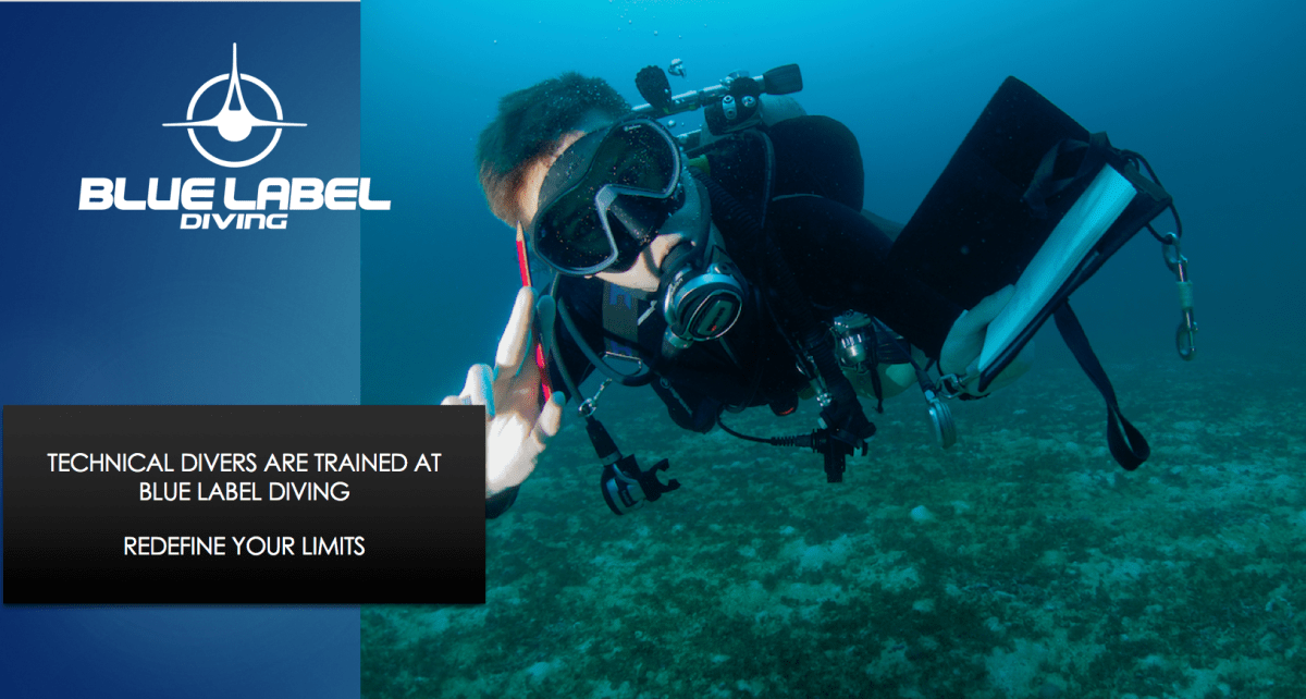 advanced nitrox course diver with wetnotes