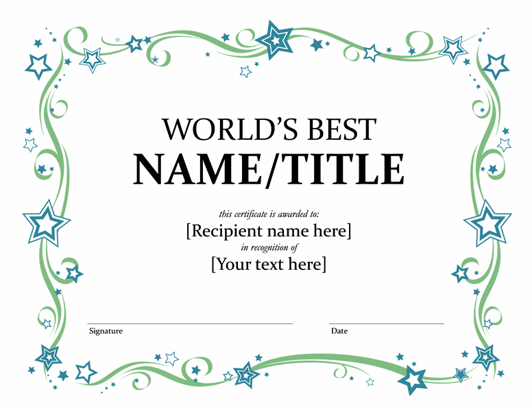 appreciation certificate template for student click here – Blank Award Templates