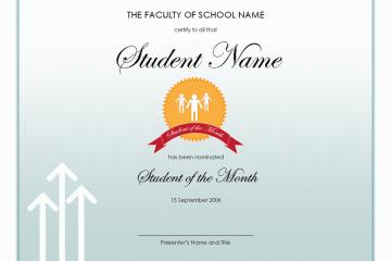 Student Award Template