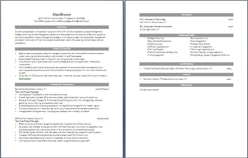 Project Manager Resume | Free Layout & Format