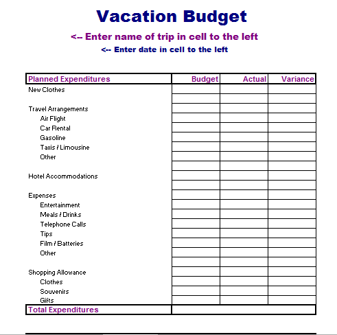 School Budget Template - Blue Layouts
