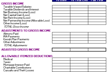 Year End Tax Plan Template
