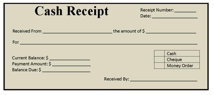 11 Free Cash Receipt Templates - Blue Layouts