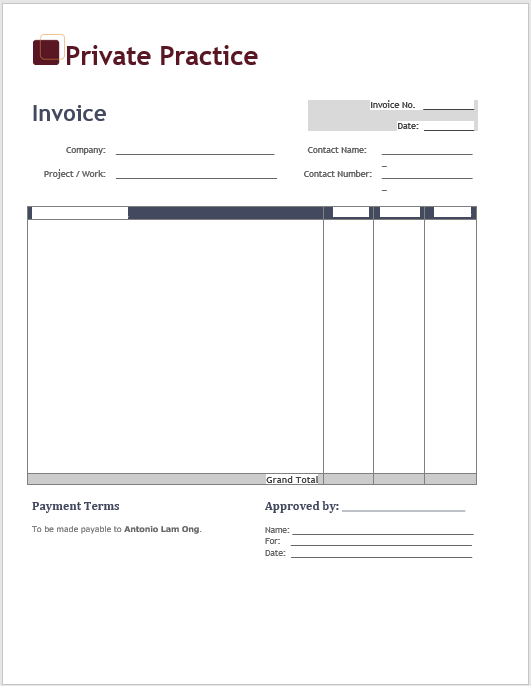 hourly invoice template 03
