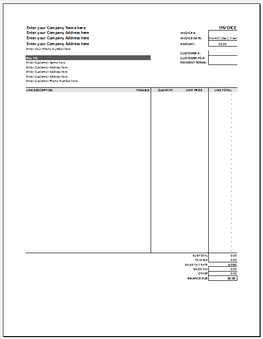 hourly invoice template 10
