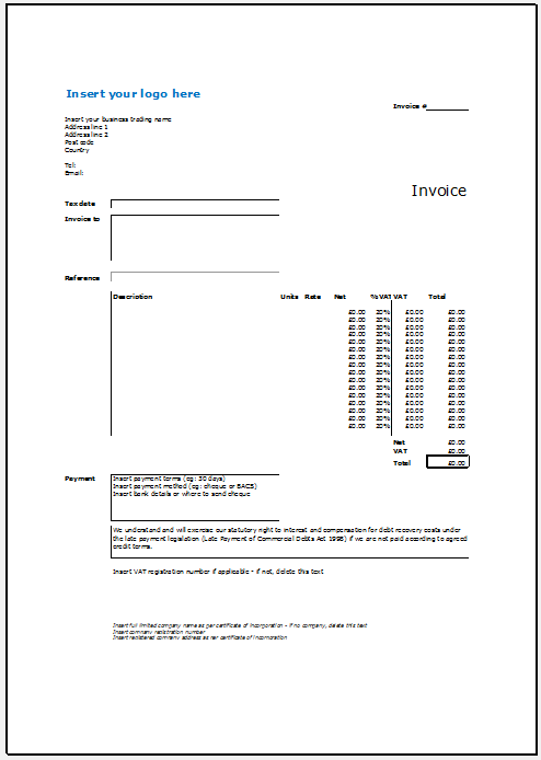 hourly invoice template 12