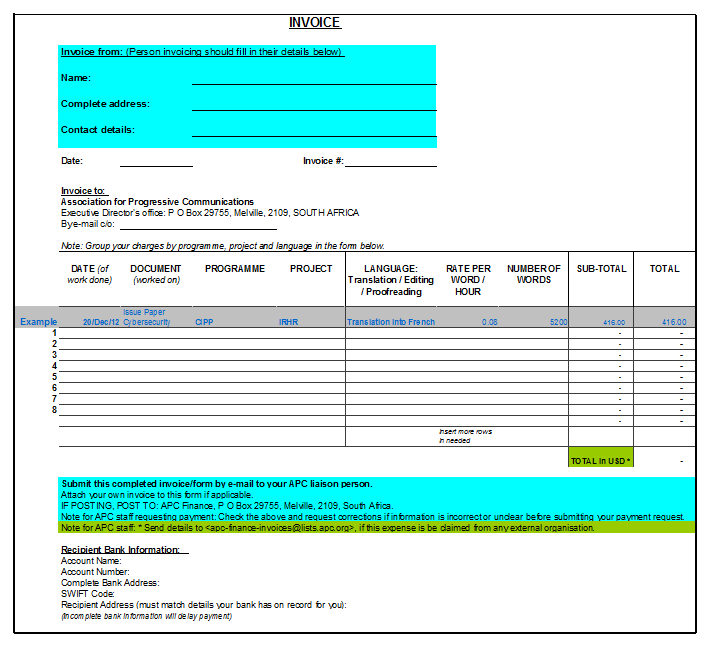 hourly invoice template 14