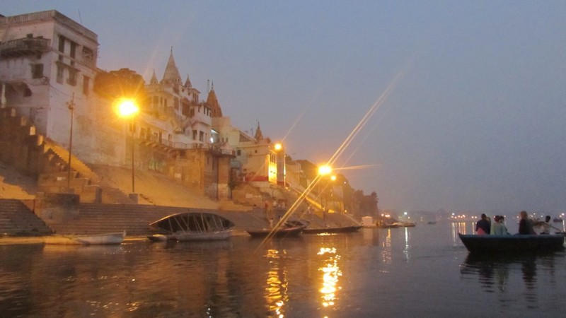 The Ghats Before Dawn