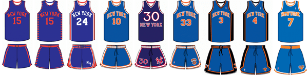 Knicks Basketball Uniforms
