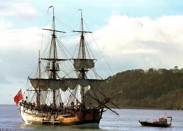 Kapitan James Cook, archeologia podwodna, wrak statku Endeavour, wyprawa dookoła świata, Kalifornia