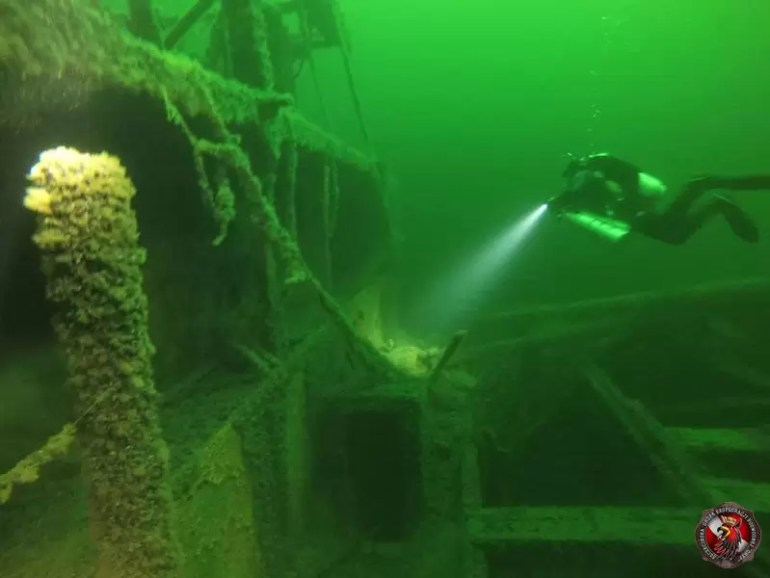 Szczecińskia Grupa Eksploracji Podwodnej Gryf poszukiwania podwodnych zabytków