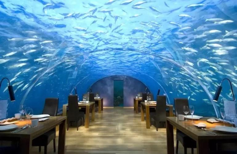 Podwodna restauracja Maledivy