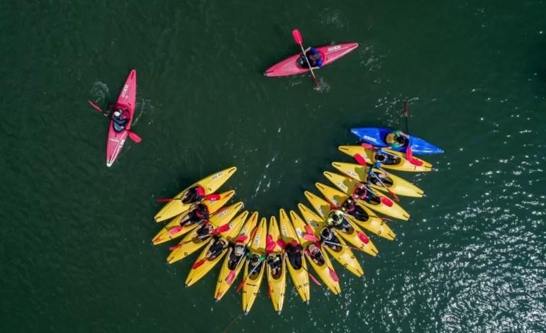 Kajakiem po rezerwatach Singapuru fot: Dronestagram / John Wong