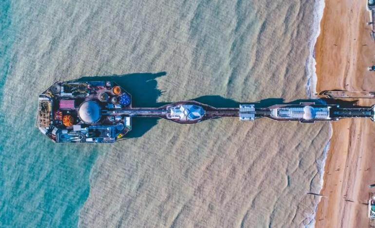 Molo w Brighton fot.:Dronestagram/LukeMaximoBell