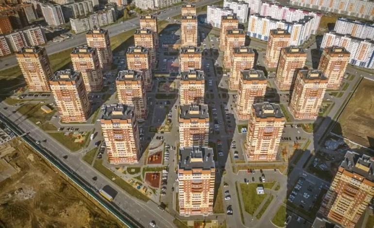 Nowa dzielnica miasta Tiumeń, Rosja - Dronestagram / imadfresh