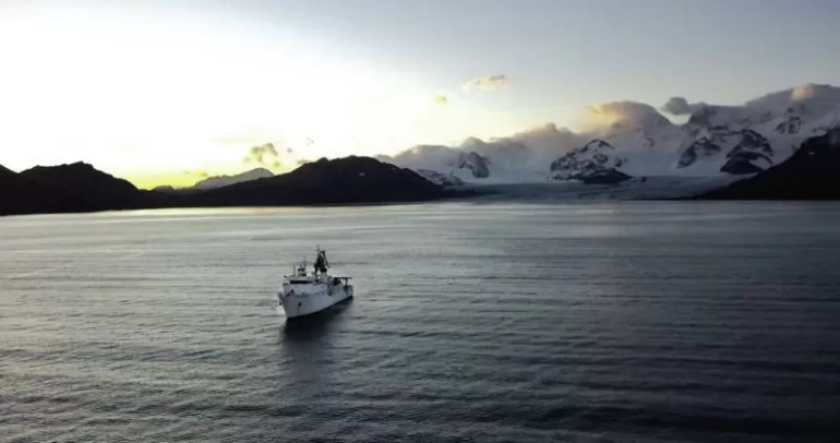najgłębszego miejsca na Oceanie Południowym