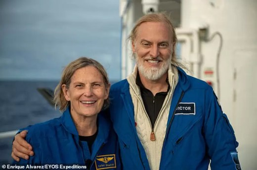 Fot.: Trip deep Challenger Kathy Sullivan i Victor Vescovo
